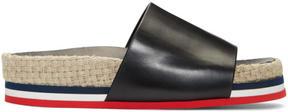 Moncler Black Evelyne Flatform Sandals