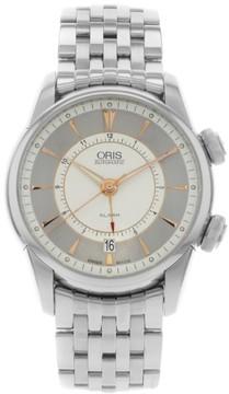 Oris Artelier Alarm 01 908 7607 4051-Set-MB Stainless Steel Automatic Mens Watch