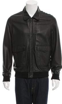 AR+ AR Leather Zip-Front Jacket w/ Tags
