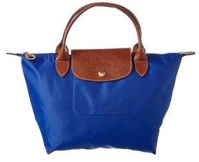 Longchamp Cuir Tote. - BLUE MULTI - STYLE