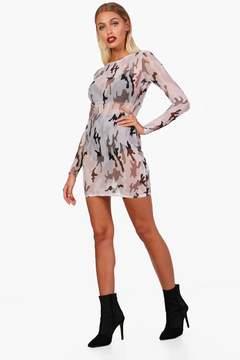 boohoo Mesh Cami Bodycon Dress
