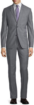 Neiman Marcus Two-Button Sharkskin Two-Piece Suit, Gray