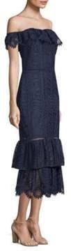 Shoshanna Celestina Lace Off-The-Shoulder Dress