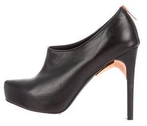 Ruthie Davis Leather Pointed-Toe Booties