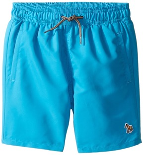 Paul Smith Turquoise Swim Shorts with Dino Appearing When Wet Boy's Shorts