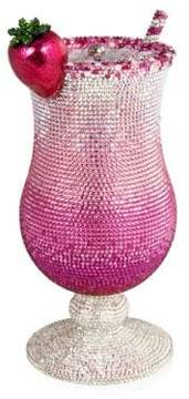 Judith Leiber Couture Pink Lady Cocktail Glass Figurine
