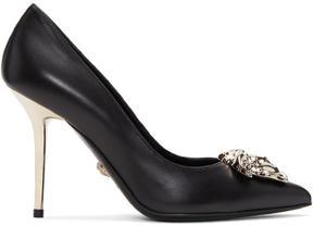 Versace Black and Gold Medusa Heels
