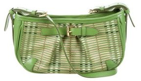 Burberry Leather Crossbody Bag - GREEN - STYLE