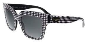 Dolce & Gabbana Dg4286 307987 Square Black/white Sunglasses.