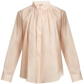 Jil Sander Eloise sheer cotton-mousseline blouse