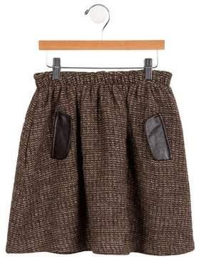 Lili Gaufrette Girls' Tweed Skirt
