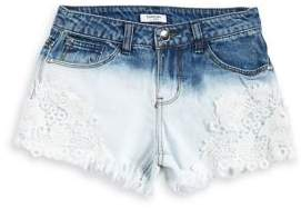 Bebe Girl's Bleached Out Denim Shorts
