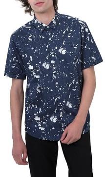 7 Diamonds Men's Print Woven Shirt