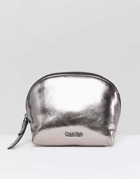 Calvin Klein Metallic Makeup Bag