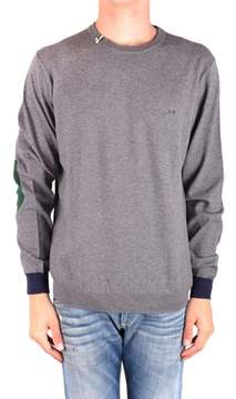 Sun 68 Men's Mcbi286178o Grey Wool Sweater.