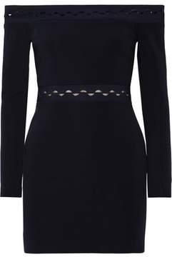 Dion Lee Off-The-Shoulder Cutout Stretch-Ponte Mini Dress