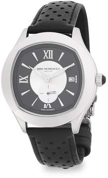 Bruno Magli Men's Classic Leather-Strap Watch