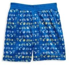Andy & Evan Little Boy's Emoji Printed Mesh Shorts
