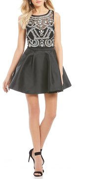 B. Darlin Bead Patterned Top Two-Piece Dress