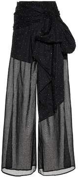 Alexandre Vauthier Embellished cotton trousers