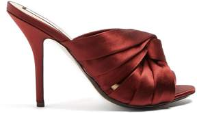 No.21 NO. 21 Twisted-satin open-toe mules