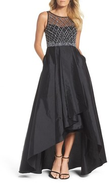 Adrianna Papell Women's Embellished High/low Ballgown