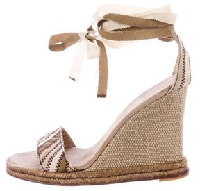 Marc Jacobs Canvas Wedge Sandals