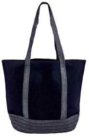 San Diego Hat Company Women's Canvas Tote With Paperbraid Handles Bsb1705.