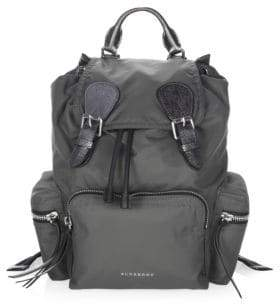 Burberry Strap-Flap Backpack - DARK GREY - STYLE