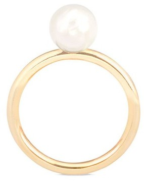 Aspinal of London 8Mm White Japanese Akoya Pearl Ring