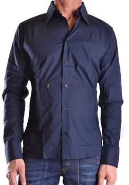 Dirk Bikkembergs Men's Blue Cotton Shirt.
