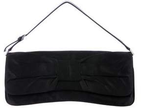 Giuseppe Zanotti Leather-Trimmed Satin Handle Bag