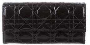 Christian Dior Cannage Patent Leather Wallet