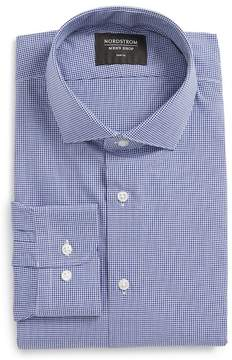 Nordstrom Mini Check Trim Fit Dress Shirt