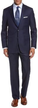Hickey Freeman Men's Classic B Fit Loro Piana Wool Suit