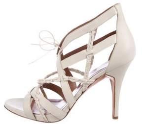 Sigerson Morrison Leather Multistrap Sandals