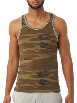 Alternative Double Ringer Printed Eco-Jersey Tank Top