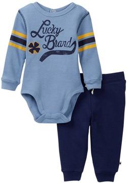 Lucky Brand Thermal Clover Bodysuit & Pant Set (Baby Boys)