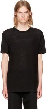 Alexander Wang Black Slub Crewneck T-Shirt