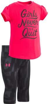 Under Armour Baby Girl Girls Never Quit Graphic Tee & Capri Leggings Set