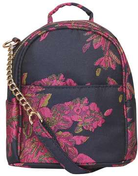 Black Jacquard Mini Cross Body Bag