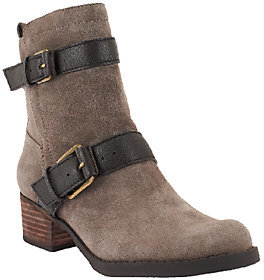 Sole Society Leather Strap Detail Ankle Boots - Kai