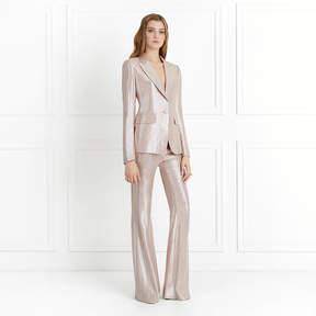 Rachel Zoe Lauren Metallic Suiting Wide-Leg Pants