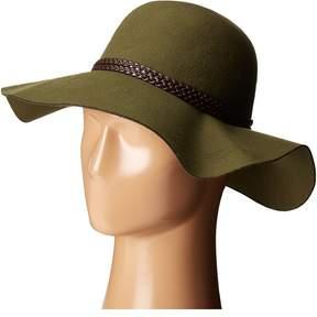 Scala Poly Felt Floppy with Braid Trim Traditional Hats