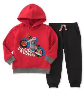 Kids Headquarters Little Boy's Motorcycle Hoodie with Pants Set