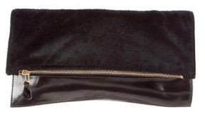 Robert Clergerie Metallic Ponyhair Clutch