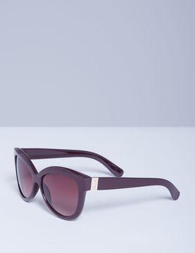 Lane Bryant Bordeaux Sunglasses with Goldtone Detail