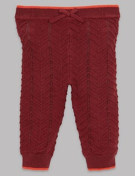 Marks and Spencer Knitted Leggings with Cashmere