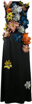 Christopher Kane sleeveless flower embellished dress