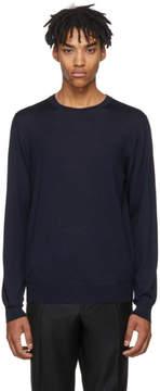 Brioni Navy Crewneck Sweater